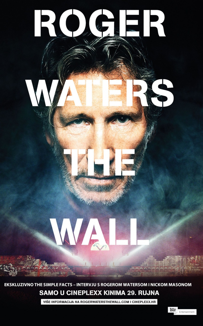 "Koncertni film ""Roger Waters The Wall"" - samo sutra, 29. rujna, u Cineplexx kinima!"