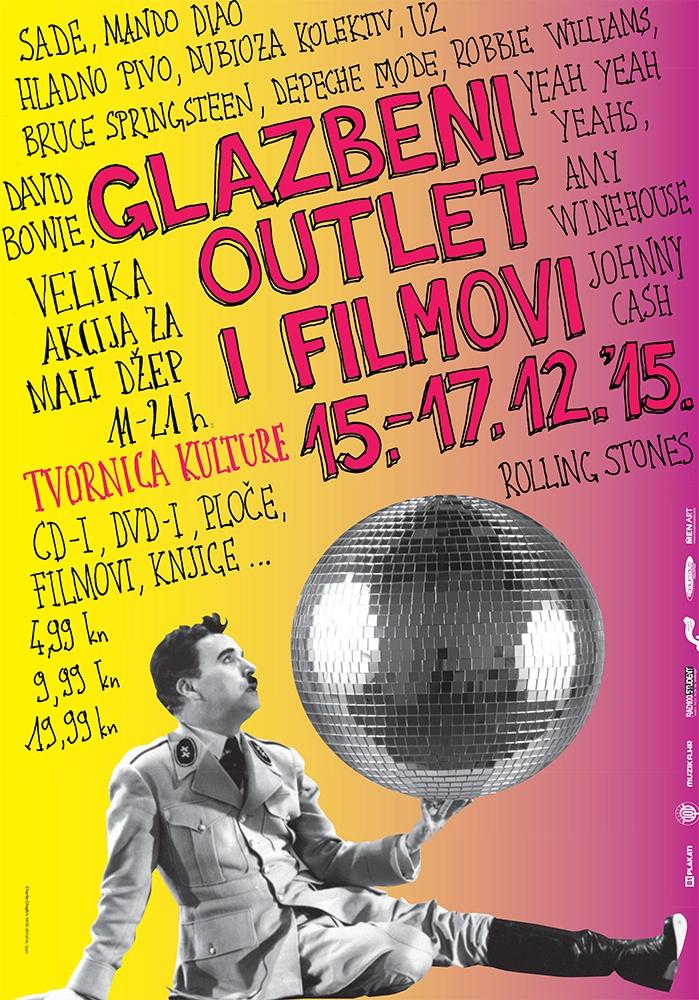 """GLAZBENI OUTLET + FILMOVI 2015 – Još jedna """"Velika akcija za mali džep""""!"""