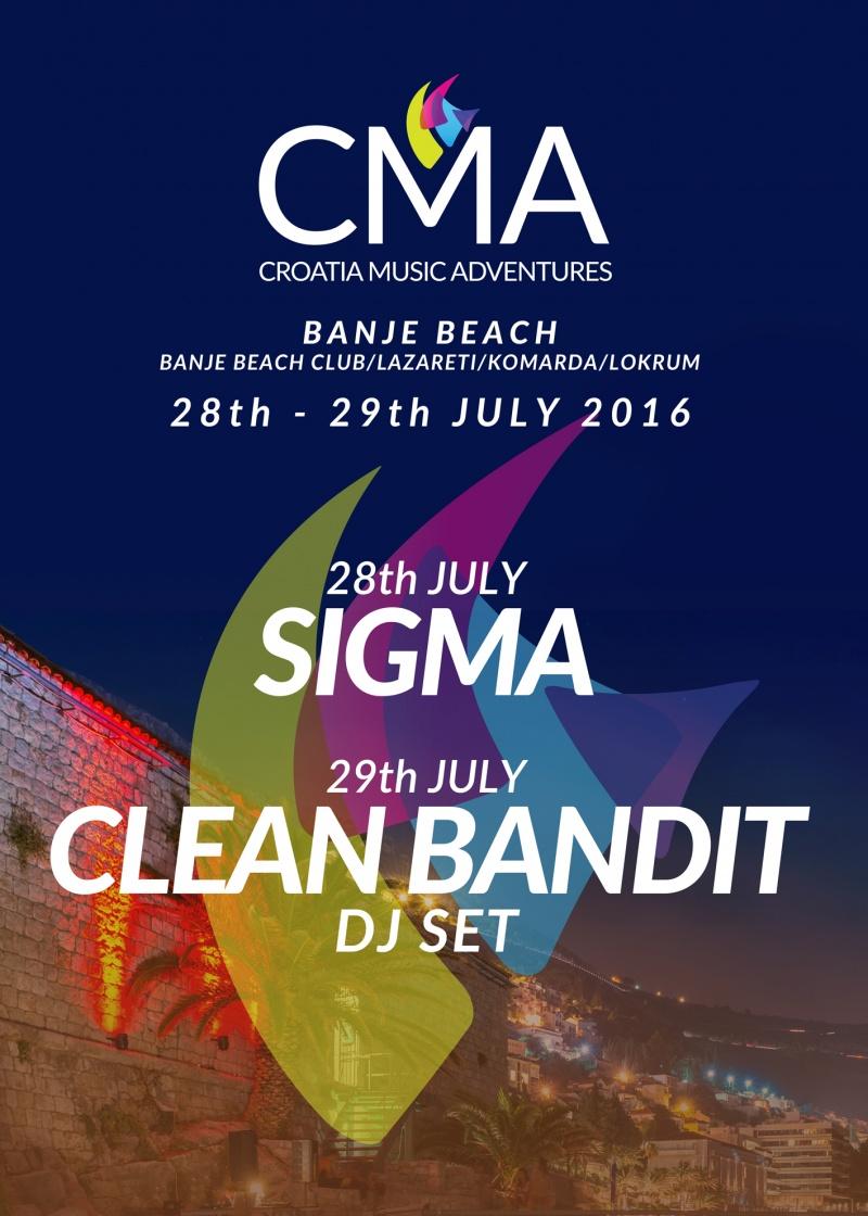 Croatia Music Adventures ove godine u Dubrovnik dovodi SIGMU i CLEAN BANDIT DJ SET!