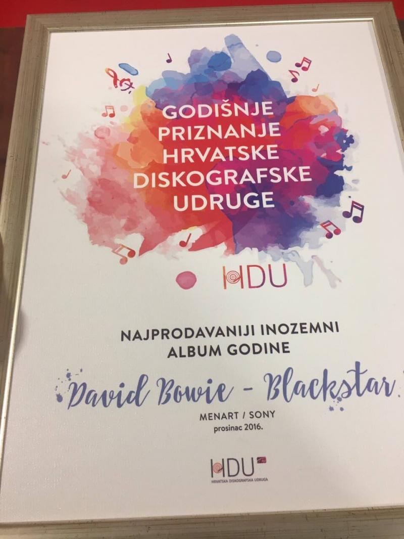 David Bowie najprodavaniji inozemni album u Hrvatskoj u 2016!