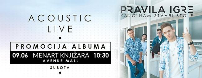 "Pravila igre - promocija novog albuma ""Kako nam stvari stoje!"""