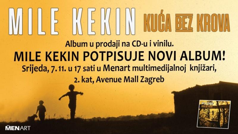 Mile Kekin – potpisivanje CDa i vinila, srijeda 7.11. u 17 sati Pogledajte spot za Atlantidu!