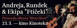 """Andreja, Rundek & Ekipa """"Ftičeki"""" - promocija albuma """"Mura Mura"""""""