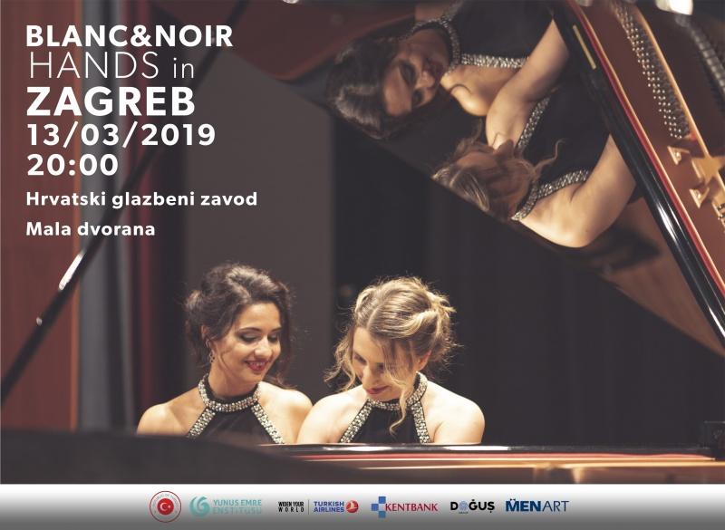 "Koncert klasične glazbe - pijanistice ""Blanc & Noir"" u Hrvatskom glazbenom zavodu"