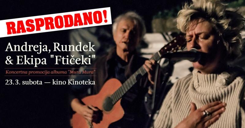Rundek & Ftičeki rasprodali Kinoteku!