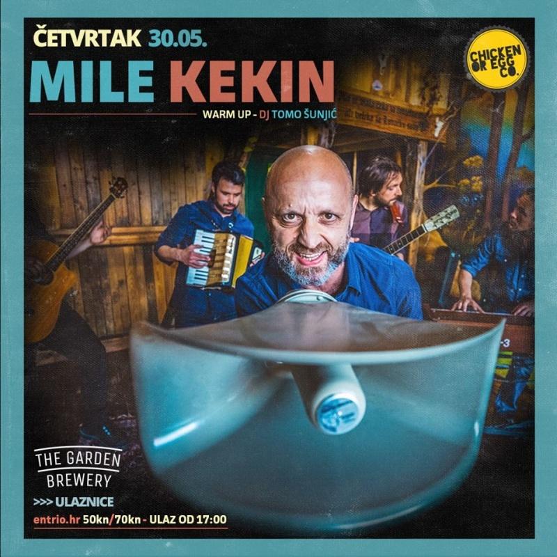 Mile Kekin dolazi u dvorište The Garden Brewery