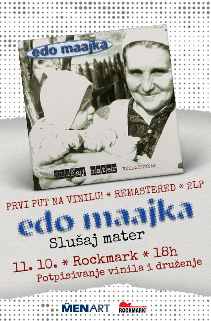 """Edo Maajka u Rockmarku! Potpisivanje vinila """"Slušaj mater""""!"""