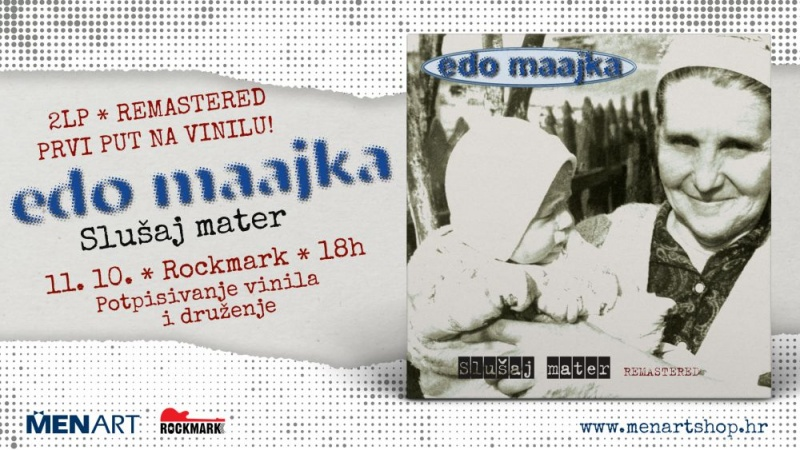 """Dvostruko, remasterirano LP izdanje """"Slušaj mater"""", Ede Maajke od danas u prodaji!"""
