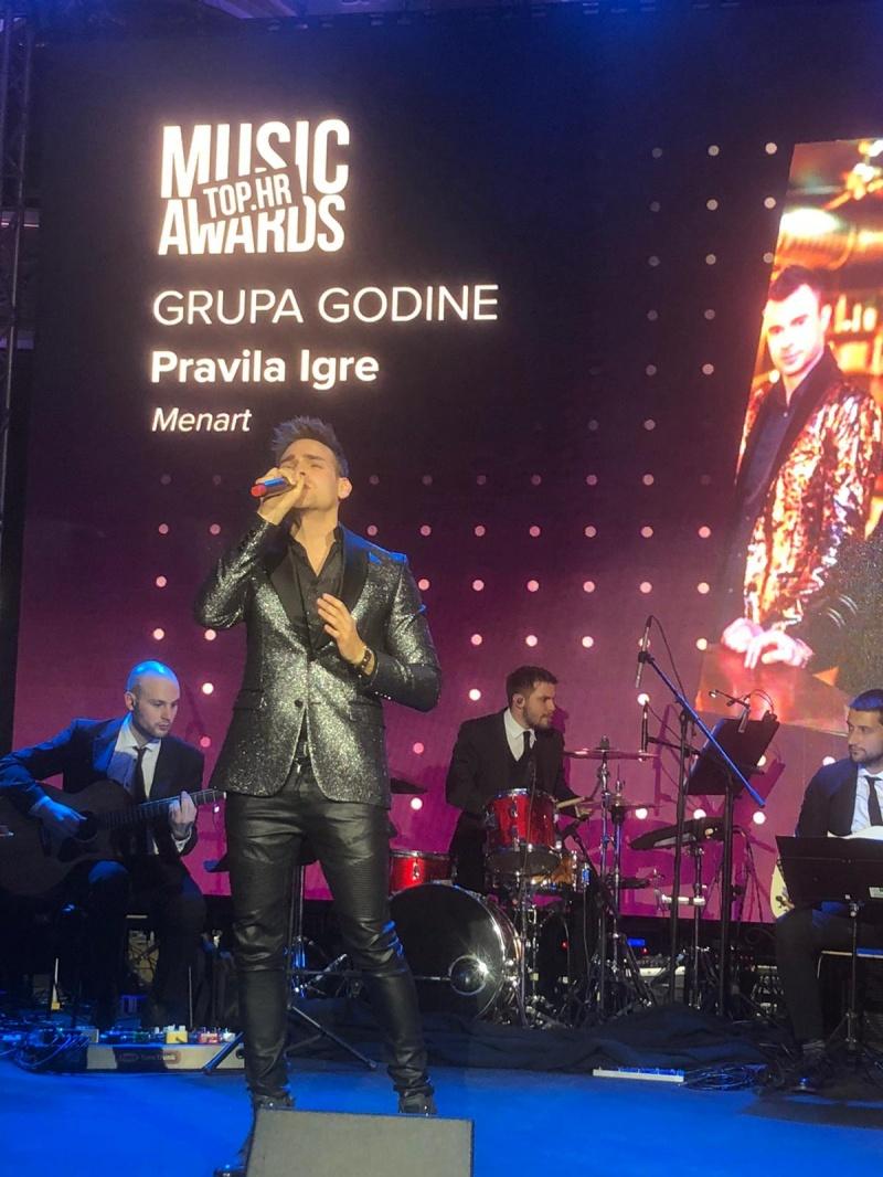 """Pravila igre dobitnici glazbene nagrade """"Top.hr Music Awards""""  za grupu godine!"""
