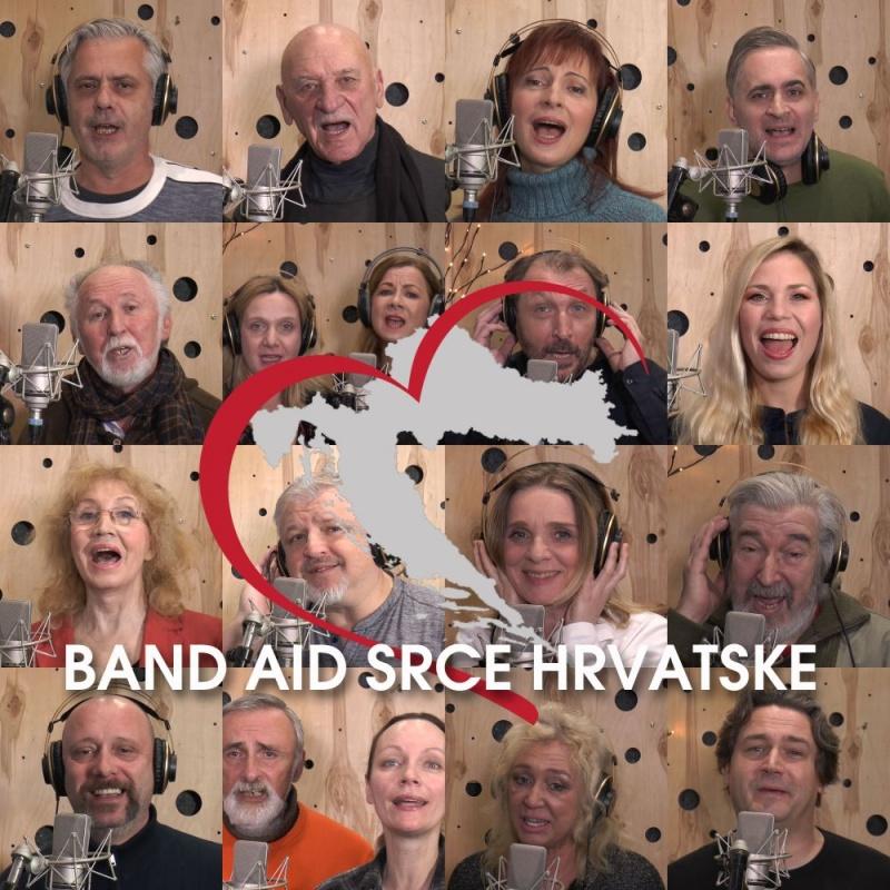 Band aid Srce Hrvatske pjeva u zahvalu svim ljudima Hrvatske koji prvi pomažu kad je najteže
